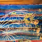 ★親子絵画教室★★あなたの夏は・・・★ 「花火」と「なに」描く?